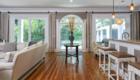 Family room with Larina Kase Interior Design in Berwyn